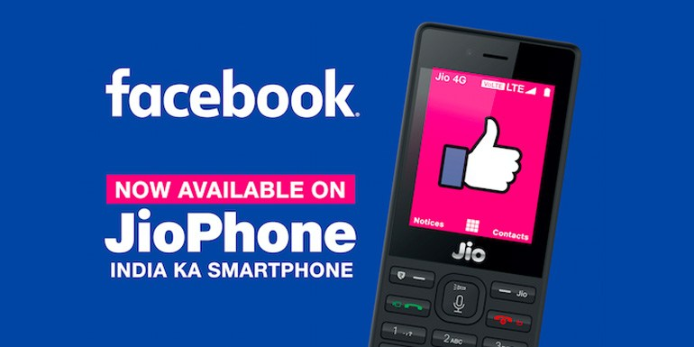 Reliance JioPhone is Cheapest Feature Phone to get Facebook