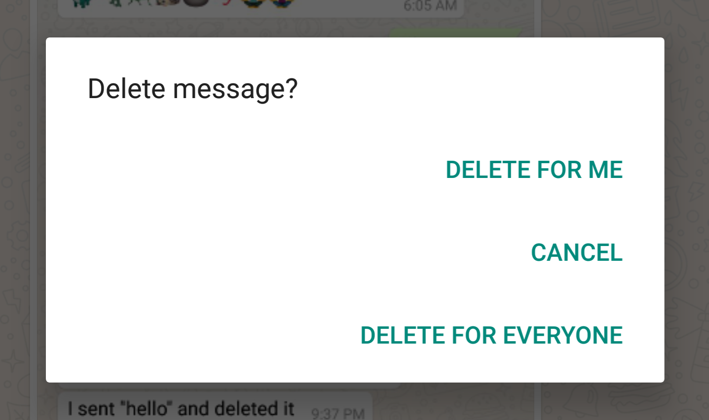 New update on Delete For Everyone in whatsapp