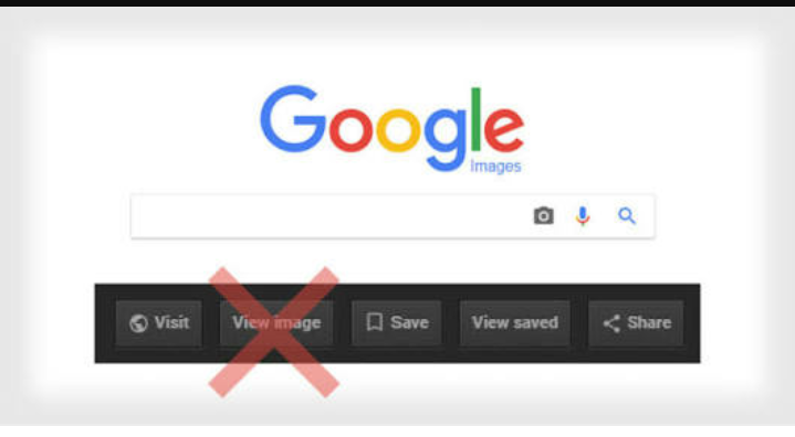 Google removed its view image button
