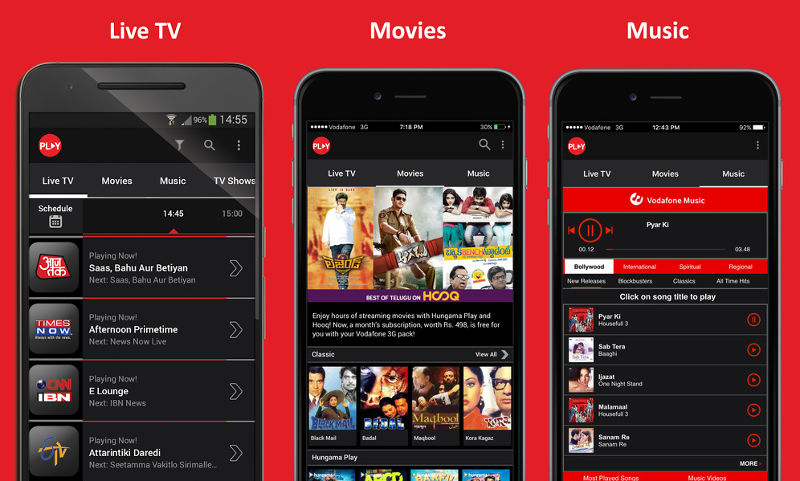 Vodafone Play App with Over 300 Live TV Channels, Free for Everyone