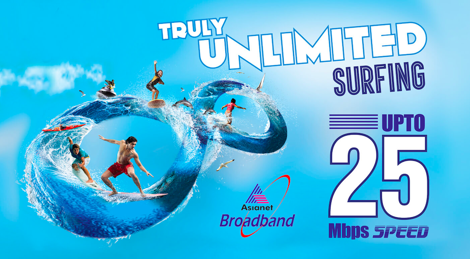 Asianet Broadband is Providing Truly Unlimited Broadband Plans