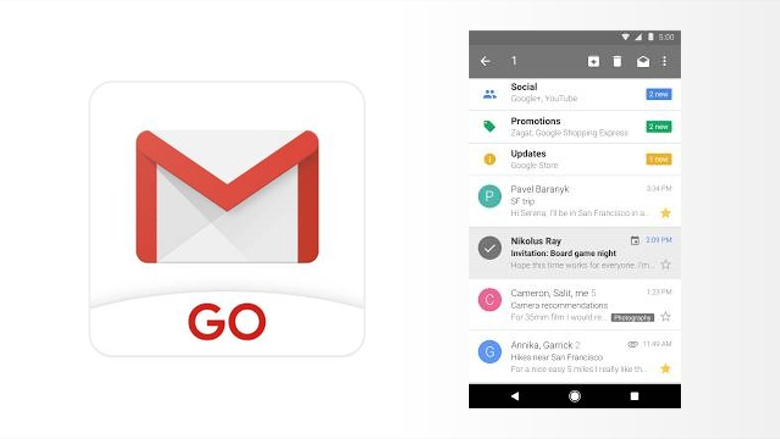 Gmail Go' app for Android