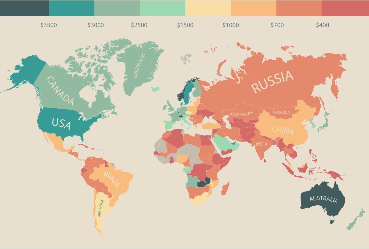 List of countries by average wage